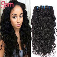 Indian Virgin Hair Water Wave 4 Bundle VIP Beauty Indian Curly Virgin Hair Natural Weave Ali Moda Raw Indian Wet Wavy Human Hair