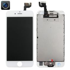 [$136.00] iPartsBuy 4 in 1 for iPhone 6s (Camera + LCD + Frame + Touch Pad) Digitizer Assembly(White)