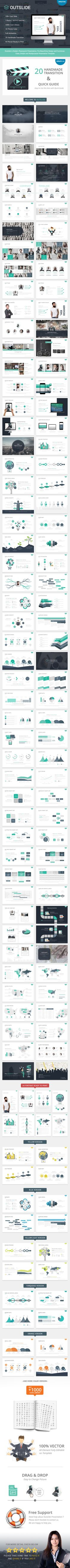 Outslide Presentation Template is simple and modern template for multipurpose presentation business or personal use bring your company to the next level.
