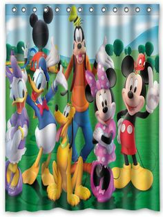 Clubhouse Disney Showershower Curtainsmickey Mouse Bathroomtoy
