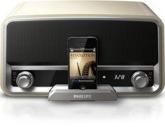 Philips ORD7100C/10 Radio Vintage avec Station d'accueil pour iPod/iPhone Crème: Amazon.fr: TV & Vidéo