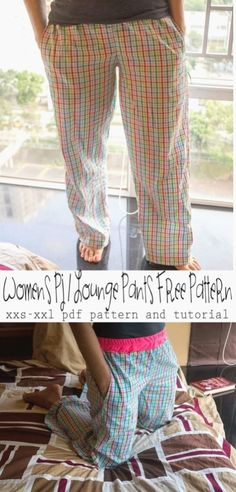Pj lounge pants free pattern xxs-xxl-from-nap-time-creations-printable-pattern-and-tutorial Pajama Pants Pattern, Pants Pattern Free, Free Pattern, Pattern Print, Sewing Patterns Free, Free Sewing, Sewing Tutorials, Clothing Patterns, Shirt Patterns