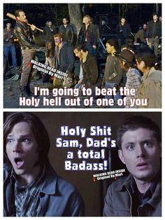The Walking Dead / Supernatural funny meme