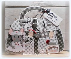Craft stencil - Bag by Marleen Marianne Design Cards, Craft Projects, Projects To Try, Paper Purse, Pop Up Cards, Stencil Designs, Diy Garden Decor, Baby Cards, Stencils