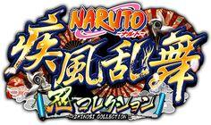NARUTO-ナルト-忍コレクション疾風乱舞 Game Font, Gaming Banner, Japan Games, Typo Design, Japan Design, Game Design, Badge, Fonts, Typography