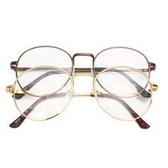 Men Women Retro Vintage Oval Eyeglasses Frame Spectacles Clear Plain Glasses