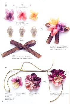 Master collection Yukiko Ogura 04 - Ribbon Made Flowers - Japanese craft book. $36.00, via Etsy.