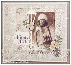 Mariannes papirverden. Christmas Scenes, Christmas And New Year, Vintage Christmas, Christmas Cards, Xmas, Christmas Ideas, New Year Card, Winter Scenes, Vintage Cards