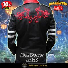 #Halloween Hot offer Get 70% OFF on #Prototype Video Game #AlexMercer Leather Jacket with Dragon Embroidery Design. Shop From jacketsmasters.com #HalloweenSale #Sale #2021 #OOTD #Style #Cosplay #Costume #Fashion #Jacket #fashionstyle #shopnow #Clothes #discountoffer #outfit #onlineshopping #discount #pumkinpatch #styleyourself #Halloween2021 #HalloweenGiftIdea #HalloweenCostume #halloween2021 #HalloweenClothes #HalloweenCostume2021 #HalloweenDay #Lettermans #Varsity #Bomber Halloween Sale, Game Character, Embroidery Designs, Shop Now, Hollywood, Leather Jacket, Cosplay, Costumes, Sweatshirts