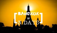 How to spend the perfect 3 days in Bangkok. Things to do in Bangkok Thailand, where to stay in Bangkok, best Bangkok restaurants, Thailand tips, and much more.