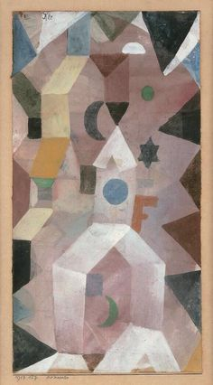 Paul Klee (1879-1940), Die Kapelle (The Chapel), 1917 (127). Watercolour and white tempera on paper on cardboard. 29.5cm H x 15cm W.