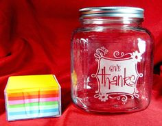 Give Thanks, Blessing, Gratitude Jar