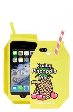 This playful 'pineapple juice' iPhone case is perfect for summer time.
