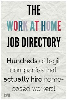 Home Job Directory - Ways to Work From Home! The work at home job directory. A five year work-in-progress listing hundreds of…The work at home job directory. A five year work-in-progress listing hundreds of… Ways To Earn Money, Earn Money From Home, Earn Money Online, Online Jobs, Money Saving Tips, Way To Make Money, Money Tips, Money Hacks, Money Today