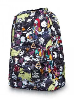 """""""Character Print"""" Backpack by Loungefly x Nightmare Before Christmas - www.inkedshop.com#inked #Inkedmag #inkedgirls #characterprint #backpack #nightbeforechristmas #timburton"""