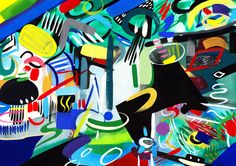 Lisa V Robinson Untitled Gouache & Watercolour on Paper  Contemporary abstraction, Colourful works on paper.
