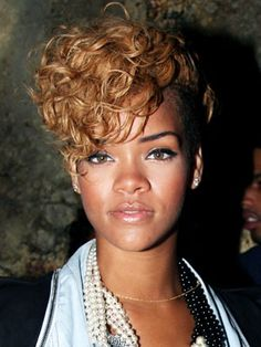 Rihanna Hairstyles Blonde Short L Curly Rihanna #hairstyles & Advice Wwwukhairdressers