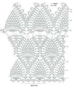 Ponto do Bordado: Tops de crochê com gráficos
