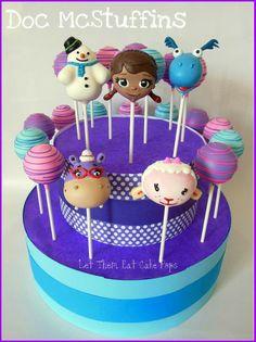 Doc McStuffins cake pops by Let Them Eat Cake Pops ~ www.LetsEatCakePops.com