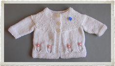 Fleur Baby Cardigan Jacket                                             FLEUR Newborn Baby Cardigan Jacket     DK yarn    ...