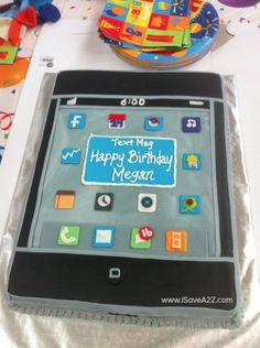 iPhone cake! 16th Birthday Party Idea along with mall scavenger hunt!