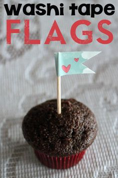 how to make washi tape flags