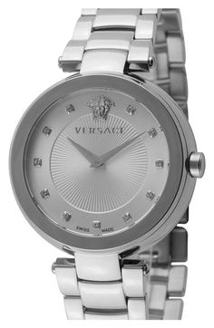 Versace+'Mystique'+Diamond+Index+Bracelet+Watch,+38mm+(Nordstrom+Exclusive)+available+at+#Nordstrom