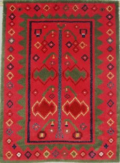 Eurajoki-ryijy 1820 Textiles, Textile Patterns, Textile Art, Quilt Patterns, Rya Rug, Wool Rug, Moroccan Style, Tapestry Weaving, Rug Hooking
