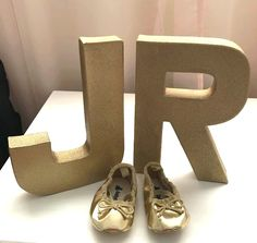 Gold monogram letter