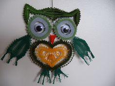 La dentellière Owl Fabric, Lace Making, Bobbin Lace, Fauna, Owls, Insects, Butterfly, Birds, Crochet