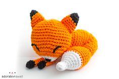 Adorably Kawaii: Sleepy Fox Amigurumi Pattern