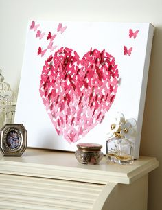 Share the love this Valentine's with whimsical canvas wall art