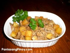 Pork Hamonado  Serving Size: 258g Amount per Service: Calories:  539g Fat: 31g Protein: 30g Carbohydrates:  35g