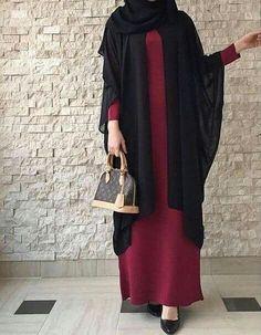Hijab fashion Very good Islamic Fashion, Muslim Fashion, Modest Fashion, Fashion Outfits, Modest Wear, Modest Dresses, Modest Outfits, Grunge Style, Soft Grunge