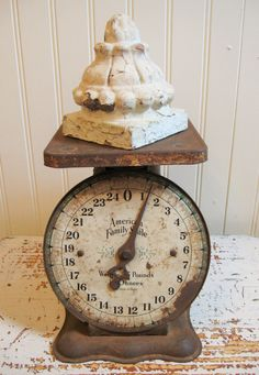 Antique Scale Home Decor Shabby Vintage Rusty Metal by PoemHouse