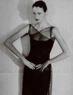 Natalia Semanova by Sheila Metzner for L'officiel, February 1997