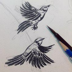 yukoshimizu:  Drawing little birdies this morning.