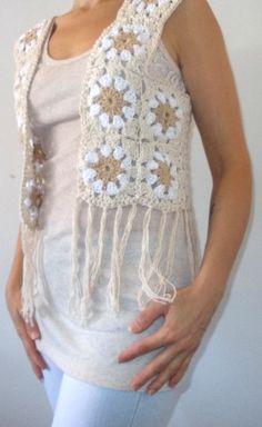 Woolen Dresses, Leaf Crafts, Kimono Cardigan, Crochet Granny, Crochet Clothes, Crochet Patterns, Knitting, Sewing, Crochet Tops