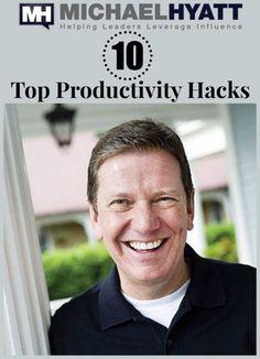 Michael Hyatt's top 10 favorite productivity hacks of all time. [podcast] http://michaelhyatt.com/075-my-top-10-productivity-hacks-podcast.html
