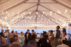 hanging bistro lights in a tent - Google Search