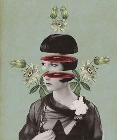 Julia Geiser (Digital Collage) Here work has such nice symmetry