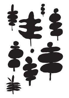 Tree plants. hausblok.co.uk #illustration #plants #drawing