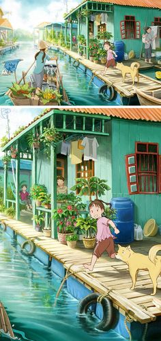 Digital Art Inspiration and Tutorials – The Round Tablet » Anime; My Summer Vacation by totoro