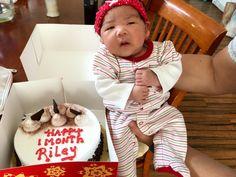 Riley's 1 month birthday