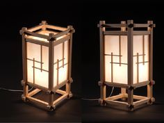 Japanese Furniture Design Projects 59 Ideas For 2019 Japanese Lamps, Japanese Furniture, Japanese Interior, Funky Furniture, Furniture Design, Furniture Plans, Plywood Furniture, Japanese Joinery, Wooden Lanterns