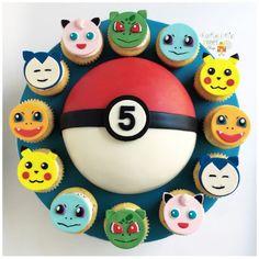 ポケモンケーキ [Marissa Sagun] - Anime and Pokemon World 2020 Pokemon Birthday Cake, Pokemon Cupcakes, 6th Birthday Cakes, 6th Birthday Parties, 8th Birthday, Birthday Party Decorations, Party Themes, Birthday Ideas, Party Ideas