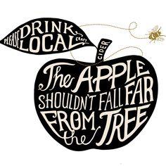 Craft Cider, Tasting Room, Rolling Stones, Tattoo Typography, Drinks, Crafts, Vinegar, Apples, Montana
