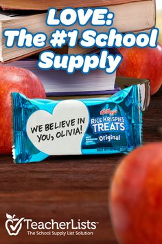 Love is the best back to school supply, but it's not the only one. That's why Rice Krispies Treats is proud to sponsor TeacherLists – The School Supply List Solution. We want to help parents prepare for the new school year by making it easier than ever to find everything you need in one place. Go to TeachersList.com to get the official supply list for your kid's class. Then send your student back to school with everything they need for their lunch… including Rice Krispies Treats!