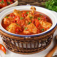 Recept : Kuřecí Čachochbili | ReceptyOnLine.cz - kuchařka, recepty a inspirace Curry, Ethnic Recipes, Food, Meal, Essen, Curries