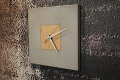 Concrete Clock on Etsy, $107.80 CAD